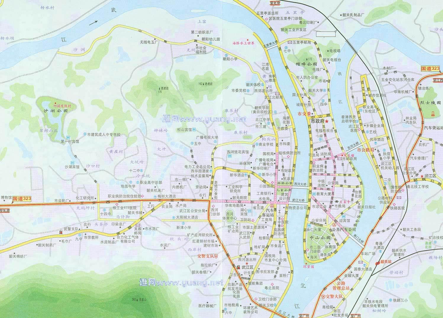 韶关地图,韶关市区地图 高清图片